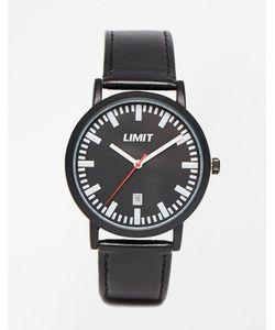 Limit | Часы С Датой И Черным Кожаным Ремешком