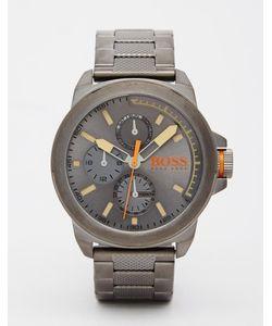 BOSS Orange   Серые Часы Из Нержавеющей Стали New York Серый