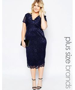 Goddiva plus | Кружевное Платье Миди