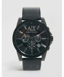 ARMANI EXCHANGE | Часы С Хронографом И Ремешком Из Черной Кожи Ax2098