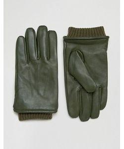 Barney's Originals   Кожаные Перчатки Цвета С Манжетами Barneys