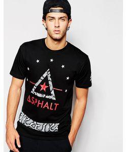 Asphalt Yacht Club | Футболка С Логотипом И Принтом Под Кожу Кобры
