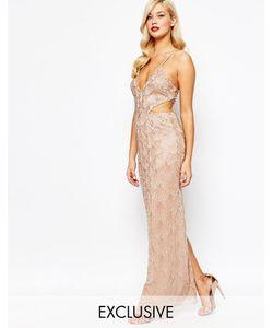 Amelia Rose | Платье Макси Со Сплошной Отделкой