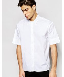 ADPT | Oversize-Рубашка С Короткими Рукавами Белый