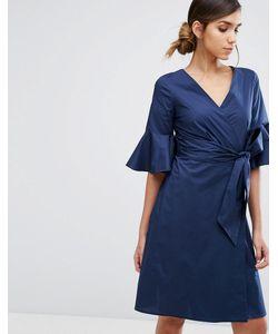 Closet London   Платье-Рубашка С Расклешенными Рукавами И Запахом Closet