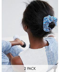 ASOS Made In Kenya   Набор Из 2 Резинок Для Волос Однотонный/С Принтом Made In