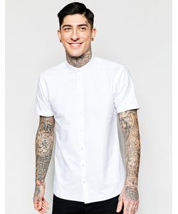 Minimum | Белая Рубашка С Воротником На Пуговицах И Короткими Рукавами
