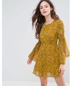 boohoo | Короткое Приталенное Платье Из Шифона