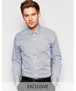 Number Eight Savile Row | Рубашка Скинни В Клеточку С Заостренным Воротником