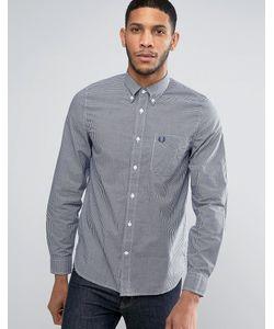 Fred Perry | Рубашка В Клеточку Зауженного Кроя С Длинными Рукавами