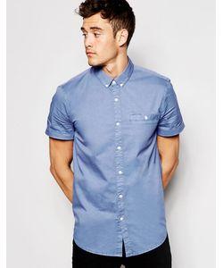 Jack Wills | Поплиновая Рубашка С Короткими Рукавами Синий