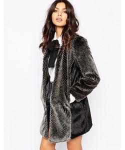Unreal Fur | Пальто Milky Way Серый И Черный