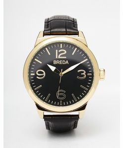Breda | Часы С Черным Кожаным Ремешком И Корпусом 44 Мм