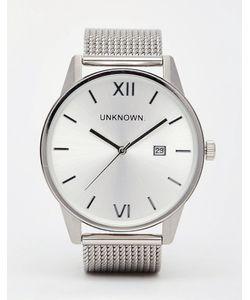 UNKNOWN | Серебристые Часы С Сетчатым Ремешком Серебряный