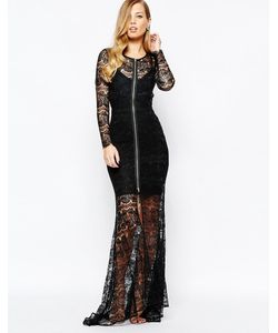 Body Frock | Черное Кружевное Платье Макси Piper Черный