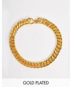 Mordekai | Ожерелье-Цепочка Под Горло С Покрытием Из 24-Каратного Золота