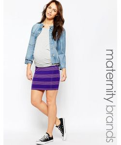 Ripe | Мини-Юбка В Полоску Для Беременных Maternity Bianca