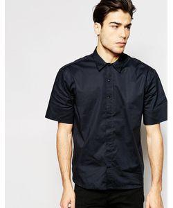 ADPT | Oversize-Рубашка С Короткими Рукавами Черный