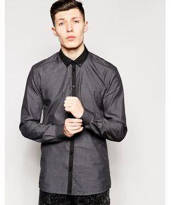 Minimum | Рубашка Классического Кроя С Контрастным Воротником Серый