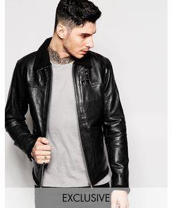 Black Dust | Кожаная Куртка С Меховым Воротником