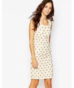 Jovonna Premier | Декорированное Платье Tahara Кремовый