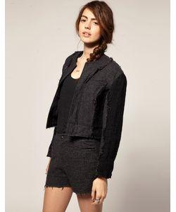 Blaak   Укороченная Куртка С Шерстяными Вставками Для Asos Серый