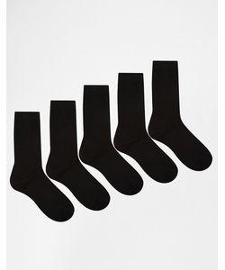 Urban Eccentric | Комплект Из 5 Пар Черных Носков S