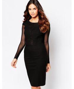 Hybrid | Платье С Сетчатыми Рукавами И Кружевной Отделкой На Спине Haele