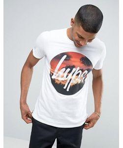 HYPE | Футболка С Принтом Заката И Логотипом