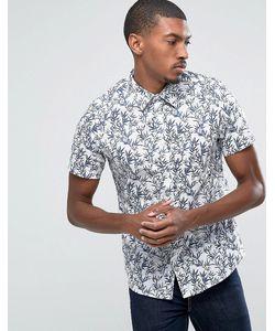 Burton Menswear | Приталенная Рубашка С Короткими Рукавами И Лиственным Принтом