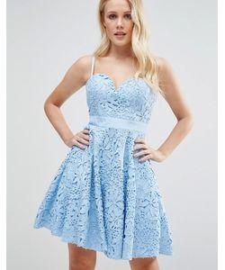 FOREVER UNIQUE | Кружевное Платье Мини Для Выпускного С Вырезом Сердечком