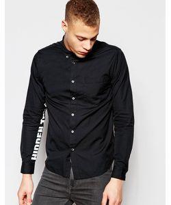Izzue | Рубашка Классического Кроя С Принтом На Рукавах Черный