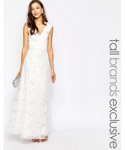 Jarlo Tall | Платье Макси С Глубоким Вырезом И Кружевной Накладкой Eva