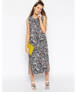 ASOS Africa | Платье-Рубашка С Монохромным Цветочным Принтом