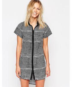 Style London   Платье-Рубашка С Принтом