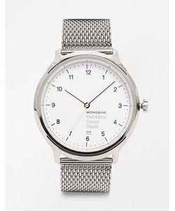 Mondaine | Часы С Сетчатым Браслетом Helvetica Серебряный