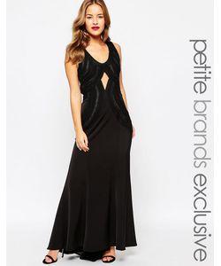Jarlo Petite | Платье Макси С Вышивкой Premium Черный