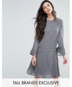 Y.A.S Tall   Короткое Приталенное Платье В Фактурный Горошек Nava