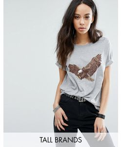 Noisy May Tall | Eagle Print Tee