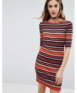 Qed London | Облегающее Платье В Полоску