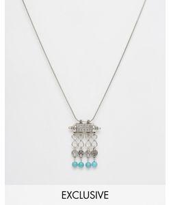 Reclaimed | Ожерелье С Монетками И Бирюзой На Подвеске Vintage