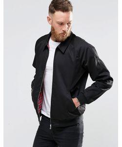Asos | Черная Куртка Харрингтон Из Хлопка Черный