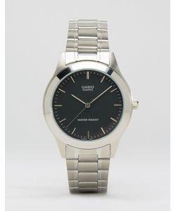 Casio   Серебристые Часы С Ремешком Из Нержавеющей Стали Mtp1128a-1a Серебряный