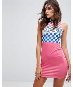 Jaded London | Фестивальное Облегающее Платье В Шахматную Клетку