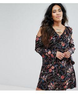 Diya | Платье С Цветочным Принтом И Вырезами На Плечах