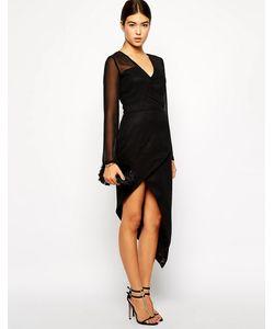 VLabel London | Платье С Длинным Рукавом И Юбкой С Запахом Mayfair