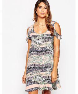 AX Paris   Цельнокройное Платье С Ацтекским Принтом И Открытыми Плечами