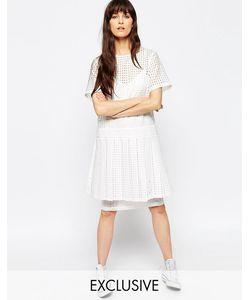 Asos | Двухслойное Платье В Фактурную Клетку Le Kilt Для