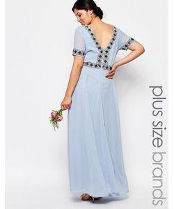 Lovedrobe Luxe | Платье Макси С Пышной Юбкой И Отделкой Синий