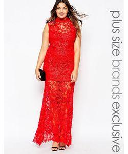 Club L Plus   Кружевное Платье Макси Premium